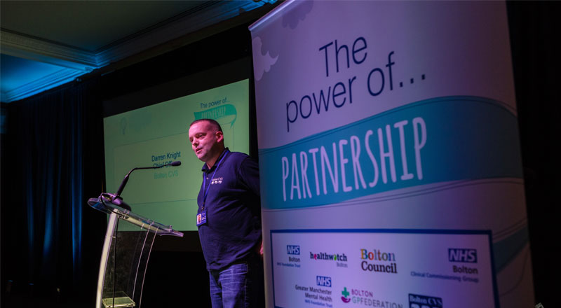 Darren Knight speaking at the Power Of Partnership event
